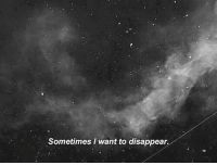 //Porter: Sometimes I want to disappear, //Porter