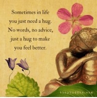 Advice, Life, and Memes: Sometimes in life  you just need a hug  No words, no advice  just a hug to make  you feel better.  in y b u d d h a cam For women only: If you've ever felt a man pull away, lose interest or suddenly stop chasing or seducing you and didn't know why or what to do, Or if you feel like you never get what *you* need in bed from any guy you date, then you must watch this eye-opening – life changing video right now 👉 http://tiny.cc/lodesire