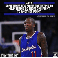 Much love & respect, Jamal. @thescore Tags: Jcross Swag Baller: SOMETIMES IT'S MORE GRATIFYING TO  HELP TEAMS GO FROM ONE POINT  TO ANOTHER POINT.  H/T MINNEAPOLIS STAR-TRIBUNE  IA  JAMAL CRAWFORD ON WHY  HE DIDN'T CHASE A RING Much love & respect, Jamal. @thescore Tags: Jcross Swag Baller