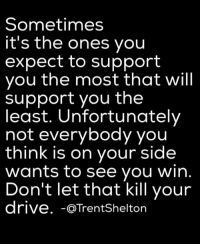 Brains, Cheating, and College: Sometimes  it's the ones you  expect to support  you the most that will  support you the  least. Unfortunately  not everybody you  think is on your side  wants to see you win  Don't let that kill your  drive  @Trent Shelton QUESTION: DO YOU ENJOY THE POSTS I SEND OUT EVERYDAY? DO YOU GET ENCOURAGED AND INSPIRED IN SOME WAY FROM THESE POSTS? If you do, then you will absolutely love my ebooks that, from now until Sunday, November 13, 2016 at 3 p.m. will go up from being $1.00 each to $3.99 each. While they are still $1.00 each, to read the descriptions or to get the ones you want before the price goes up, please go to: http://www.WOWFW.com   These ebooks will go deeper into helping you in many areas of your life. Below are all 83 titles you can pick and choose from.   Here are the titles: (1) Self defense for women. (2) Mind games most men play on women. (3) Get a good man in your life. (4) Managing your life by eating right. (5) Save your marriage by mending your marriage. (6) 700 motivational and inspirational quotes. (7) Diet and exercise. (8) How to find your purpose in life. (9) Building confidence for kids. (10) How to boost your metabolism. (11) How to quit smoking. (12) How to get over the hurt. (13) How to catch a cheater. (14) Choose to be happy. (15) Improve your memory. (16) Reduce stress. (17) The real reasons why a man will cheat on you. (18) 110 ways to improve yourself. (19) Lose weight today through yoga. (20) How to get more organized. (21) Defeat depression. (22) 50 lies and lines teenage boys use to get what they want from your daughter. (23) Motivation made simple. (24) 500 things to say to your child through words of wisdom that will build their self esteem.   (25) Child safety online. (26) Struggling with weight loss, lose weight now. (27) How to start a business with no experience. (28) Destroy your anger. (29) How to conquer your fears. (30) Build up your self esteem. (31) How to read body language. (32) Bankruptcy recovery. (33) Never say later, never procrastinate. (34) How to stay motivated. (35) Never give up. (36) Stuttering, how to control it. (37) Juicing jumpstart. (38) Courage and self confidence, how to build them. (39) How to be more productive. (40) How to have better relationships. (41) How to break bad habits. (42) How to negotiate anything. (43) Job hunters handbook. (44) How to be assertive. (45) How to stop compulsive spending. (46) Believe it and you will achieve it. (47) Change your mind, change your life. (48) How to choose the right career. (49) The marriage fix, when you need counseling. (50) Protecting yourself from identity theft. (51) Work at home for busy moms. (52) Getting things done. (53) Avoiding credit card disaster.   (54) Boot anger, control your emotions. (55) Green smoothie lifestyle (56) Anti-Addiction, overcoming your addictions. (57) Walking for fitness. (58) Organize your debt. (59) How to master your emotions. (60) Overcoming the fear of public speaking. (61) How to save your marriage. (62) Eliminate stress. (63) Going from point A to point B. (64) Shape up and have a better life. (65) Pre-school guide for parents. (66) Addiction counseling. (67) How to become a magnetic speaker. (68) 99 ways to stop bed wetting. (69) Toddler's world, helping your children overcome challenges. (70) Childhood nutrition. (71) Activities for young adults. (72) Living within your means. (73) Brain games. (74) Self Defense 101 (75) Martial arts, learn how to protect yourself. (76) Safety soldier, learn the art of self defense the easy way. (77) Dog training techniques. (78) Cat training techniques. (79) Money tips for students. (80) Fantastic study tips. (81) Choosing community college. (82) Ideal University (83) Learn the easy way how to write your first ebook.  If you want to read the descriptions of these ebooks, please go directly to http://www.WOWFW.com