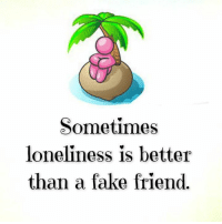 Fake, Memes, and Loneliness: Sometimes  loneliness is better  than a fake friend