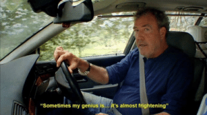 """Genius, Frightening, and Force: """"Sometimes my genius is../ it's almost frightening"""" me when I'm depressed and force myself to stop being depressed"""