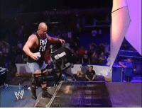 Sometimes the best moments happen when RAW goes off AIR. Stone Cold Steve Austin Rides Chair Down The Ramp.  If this doesn't put a smile on your face. Nothing will!: Sometimes the best moments happen when RAW goes off AIR. Stone Cold Steve Austin Rides Chair Down The Ramp.  If this doesn't put a smile on your face. Nothing will!