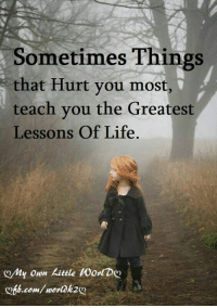 Sometimes Things  that Hurt you most  teach you the Greatest  Lessons Of Life  6b.com/ wordk2o