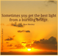Memes, Don Henley, and 🤖: Sometimes you get the best light  from a burning bridge.  Don Henley