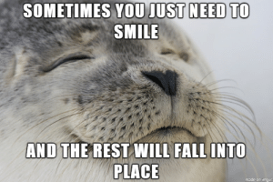 Smile!: SOMETIMES YOU JUST NEED TO  SMILE  AND THE REST WILL FALL INTO  PLACE  made on imgur Smile!