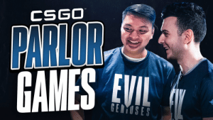 Sometimes you need a break from competitive @CSGO. Find out what happens when @tarik and @Brehze challenge themselves and their teammates in the first episode of Parlor Games! #LIVEEVIL  📺  https://t.co/3BQ4ysExhJ https://t.co/y5kOkWj0wJ: Sometimes you need a break from competitive @CSGO. Find out what happens when @tarik and @Brehze challenge themselves and their teammates in the first episode of Parlor Games! #LIVEEVIL  📺  https://t.co/3BQ4ysExhJ https://t.co/y5kOkWj0wJ