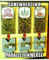 parallel universes: SOMEWHERE INA  Strawberrp  uitsel  (a Stoner Humor  PARALLEL UNIVERSE
