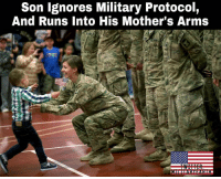 Soldiers had been instructed to hold off on saying hello to family members until they were formally dismissed, but Cooper had other ideas as he ran across the auditorium at the Inver Grove Heights Training Center and jumped into his mother's arms. Thank for your services! 🇺🇸 https://t.co/tNMLzUv4cJ: Son lgnores Military Protocol,  And Runs Into His Mother's Arms Soldiers had been instructed to hold off on saying hello to family members until they were formally dismissed, but Cooper had other ideas as he ran across the auditorium at the Inver Grove Heights Training Center and jumped into his mother's arms. Thank for your services! 🇺🇸 https://t.co/tNMLzUv4cJ