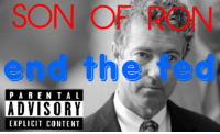 "Http, Content, and Class: SON OF RON  end the fed  PAREN TA L  ADVISORY  EXPLICIT CONTENT <p><a class=""tumblelog"" href=""http://tmblr.co/mIiX85InXZ_5gFO1XlH6zKA"">@libertybill</a>, I'd be glad to let you do the track listing honors.</p>"