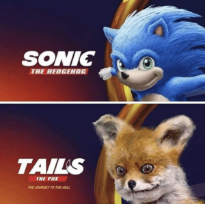 Hells: SONIC  THE HEDGEHOG  TAILS  THE FOX  THE JOURNEY TO THE HELL