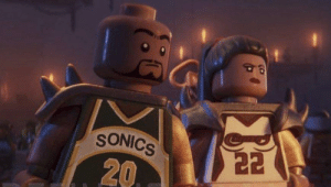 Basketball, Chris Pratt, and Lego: SONICS  22  20 for the Lego Movie 2 (2019), the movie features some strange cameos, including basketball legends Gary Payton (Seattle legend) and Sheryl Swoops (who played for Seattle in 2008). both director Chris Miller and star Chris Pratt are from the greater Seattle area.