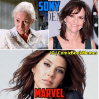 Aunt May is changing faster than Quicksilver took those bullets: SONM  IG ComicBookMemes  MARVEL Aunt May is changing faster than Quicksilver took those bullets