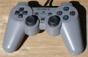 PlayStation, Sony, and Time: SONY  PlayStation  START  ECT  ANALOG What is your favorite playstation controller of all time? Mine is the playstation 1 DualAnalogController