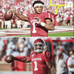 From one No. 1️⃣ to the next  Oklahoma is in good hands with Jalen Hurts 🔴⚪️: SOONEY  51  SpONERS From one No. 1️⃣ to the next  Oklahoma is in good hands with Jalen Hurts 🔴⚪️