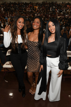 Basketball, College, and Tumblr: soph-okonedo:  LaLa Anthony, KeKe Palmer and Cardi B at 2017 LudaDay Celebrity Basketball Game at Morehouse College - Forbes Arena on September 3, 2017 in Atlanta, Georgia