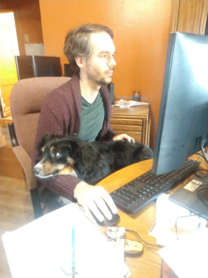 Sophie helps dad do a good work at home.: Sophie helps dad do a good work at home.