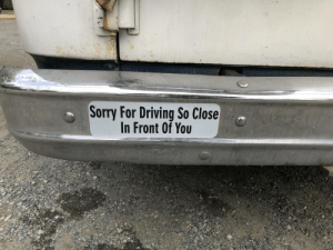 Canadian Bumper Sticker: Sorry For Driving So Close  In Front Of You Canadian Bumper Sticker