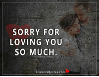 Love, Memes, and Sorry: SORRY FOR  LOVING YOU  SO MUCH  Prakhar Sahay  Like Love Quotes.com Sorry for loving you so much.