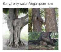 Nature better chill: Sorry, I only watch Vegan porn now  @tindervsreality Nature better chill