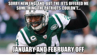 England, Football, and Money: SORRY NEW ENGLAND BUT THE JETS OFFERED ME  THE PATRIOTS  Riddell  NFL EMES  JANUARY AND FEBRUARY OFF It wasn't all about the money..