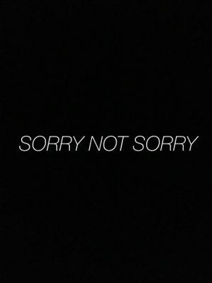 not sorry: SORRY NOT SORRY
