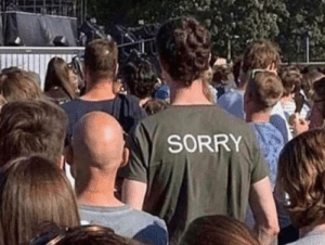 Tall guy at a concert: SORRY Tall guy at a concert