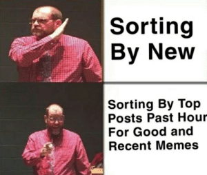 Memes, Good, and Top: Sorting  By New  Sorting By Top  Posts Past Hour  For Good and  Recent Memes top my iq