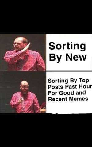 Memes, Reddit, and Good: Sorting  By New  Sorting By Top  Posts Past Hour  For Good and  Recent Memes Big iq boi