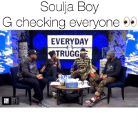 Kinda hard not to keep posting souljaboy when he's doing things like this over at @complex & @everydaystruggleshow 😅 Follow @bars for more ➡️ DM 5 FRIENDS: Souja Boy  G checking everyone  EVERYDAY  TRUGG  GIN  ALS Kinda hard not to keep posting souljaboy when he's doing things like this over at @complex & @everydaystruggleshow 😅 Follow @bars for more ➡️ DM 5 FRIENDS