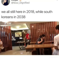 The future has arrived: @Soul_Dignified  we all still here in 2018, while south  koreans in 2038  채움 The future has arrived