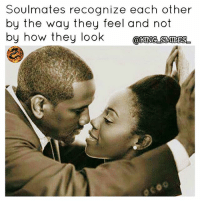 Facts, Fye, and Goals: Soulmates recognize each other  by the way they feel and not  by how they look  @KMASM醜  0 For Good Quality Fye Memes To Post On Your Page, Go Check Out👉🔥@fyeassmemes🔥 FOLLOW THE CREW 🔥@king_smiles_ 🔥@leggygirl1 🔥@bscott_206 fyeassmemes king_smiles_ leggygirl1 bscott_206 love followback realtalk facts goals lovequotes relationshipgoals photooftheday truestory sexuall inlove powercouples quotes relationships picoftheday webstagram quotesofthegram tagafriend positivevibes truelove bestoftheday worth soulmate honesty truthbetold lit