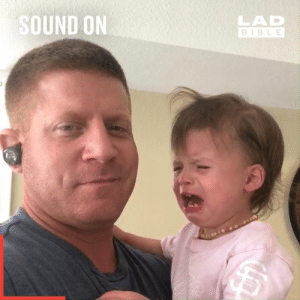 This is the ultimate parenting life hack to stop your kids from crying... 👏: SOUND ON  LAD  BIBLE This is the ultimate parenting life hack to stop your kids from crying... 👏