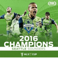 SOUNDERS FC  SABO  2016  SEATTLE SOUNDERS  MLS CUP  FOX Seattle Sounders are MLS Cup champions!