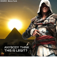 Memes, Creed, and Ancient: SOURCE: Menna Tarek  ANYBODY THINK  THIS IS LEGIT? An Assassin's Creed game set ancient Egypt anyone? 🕌