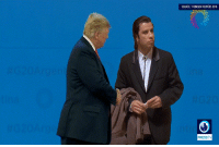 Donald Trump, Reuters, and Trump: SOURCE: THOMSON REUTERS 2018  PRESSTV Donald Trump attends the G20 summit (2018)