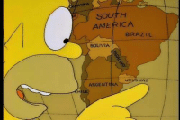 "Classic Homer Simpson line: ""Haha! Look at this country... You are gay.."": SOUTH  AMERICA  BRAZIL  BOLIVIA  uRt  UAY  ARGENTINA Classic Homer Simpson line: ""Haha! Look at this country... You are gay.."""
