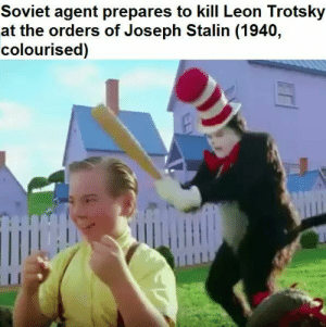 Rare Photo by Jakeb19 FOLLOW 4 MORE MEMES.: Soviet agent prepares to kill Leon Trotsky  at the orders of Joseph Stalin (1940,  colourised) Rare Photo by Jakeb19 FOLLOW 4 MORE MEMES.