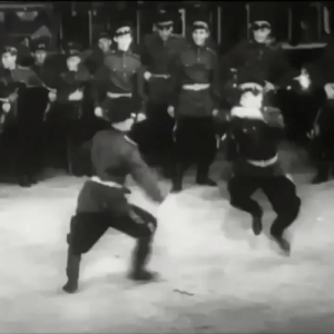 Soviet soldiers celebrating the end of The Great Patriotic War by performing a traditional victory dance to the tune of the Soviet National Anthem [1945]: Soviet soldiers celebrating the end of The Great Patriotic War by performing a traditional victory dance to the tune of the Soviet National Anthem [1945]