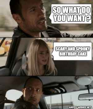 Halloween Birthday Memes - Funniest - Happy Wishes: SOWHAT DO  SCARYAND SPOOKY  BIRTHDAY CAKE  HAPPY-WISHES.NET Halloween Birthday Memes - Funniest - Happy Wishes