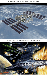 Funny, Metric, and Metric System: SPACE IN METRIC SYSTE M   SPACE IN IMPERIAL SYSTEM Why the Metric system has its disadvantages over the Imperial system