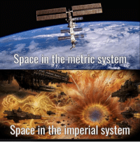 Space: Space in the metric system  Space in the imperial system