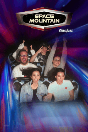 Props to the lady in the back: SPACE  MOUNTAIN  Disneyland  RESORT  ©DISNEY Props to the lady in the back