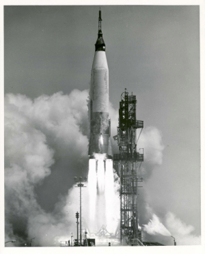 space-pics:A NASA Project Mercury spacecraft was test launched at 11:15 AM EST on April 25, 1961 from Cape Canaveral, Florida, in a test designed to qualify the Mercury Spacecraft and all systems, which must function during orbit and reentry from orbit. [2395 x 2971]: space-pics:A NASA Project Mercury spacecraft was test launched at 11:15 AM EST on April 25, 1961 from Cape Canaveral, Florida, in a test designed to qualify the Mercury Spacecraft and all systems, which must function during orbit and reentry from orbit. [2395 x 2971]