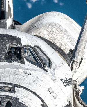 Tumblr, Blog, and Space: space-pics:  A unique view of the Space Shuttle Endeavour…