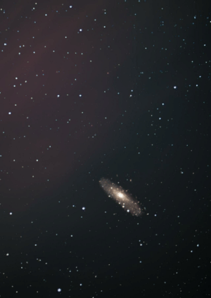 space-pics:  Andromeda with a 35 mm lens [OC]: space-pics:  Andromeda with a 35 mm lens [OC]