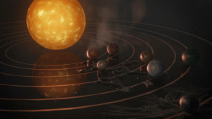 space-pics:  Animated recreation of the famous Trappist-1 image: space-pics:  Animated recreation of the famous Trappist-1 image