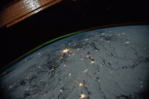 space-pics:  Aurora over the Ukraine photographed from the International Space Station [5568 x 3712]: space-pics:  Aurora over the Ukraine photographed from the International Space Station [5568 x 3712]