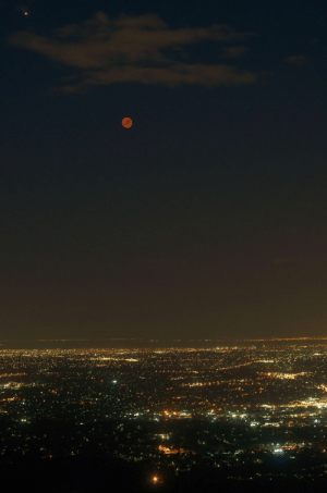 Tumblr, Australia, and Blog: space-pics:  Bloodmoon and Mars over Melbourne, Australia [3264 x 4928]