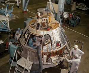 space-pics:  Command Module Heat Shield Installation by NASA on The Commons: space-pics:  Command Module Heat Shield Installation by NASA on The Commons